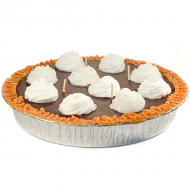 9 inch Chocolate Pudding Pie Candles