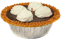 5 inch Chocolate Pudding Pie Candles