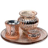 Copper Candle Holder 4 Piece Set