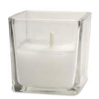Square Cup White Votive