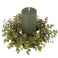 Eucalyptus 4 Inch Candle Ring