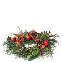 Pine and Pomegranate 4.5 Inch Candle Ring