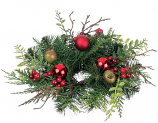 Pine and Mixed Ornaments 2 Inch Candle Ring