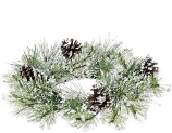 Snow Pine 4.5 Inch Candle Ring