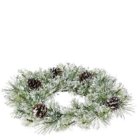 Snow Pine 6.5 Inch Candle Ring