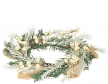 Pine Cream Berry 6.5 Inch Candle Ring