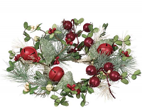 Pine Berry Bells 4.5 Inch Candle Ring