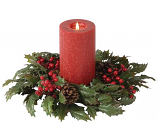 Classic 4.5 Inch Hollyberry Candle Ring