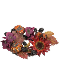 Sunflower Pumpkin 4.5 Inch Candle Ring