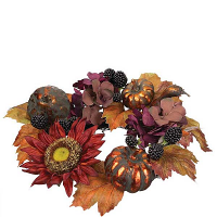 Sunflower Pumpkin 6.5 Inch Candle Ring