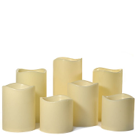 7 Piece LED Pillar Candle Set