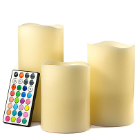 Color Changing LED Pillar Candle Set