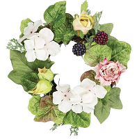 Rose Hydrangea 4.5 Inch Candle Ring