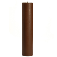 3 x 12 Chocolate Fudge Pillar Candles