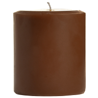 4 x 4 Chocolate Fudge Pillar Candles