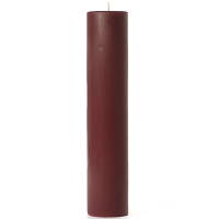 3 x 12 Leather Pipe and Woods Pillar Candles