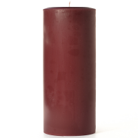 4 x 9 Leather Pipe and Woods Pillar Candles