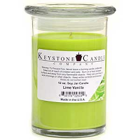 Lime Vanilla Soy Jar Candles 12 oz Madison