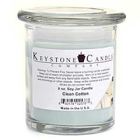 Clean Cotton Soy Jar Candles 8 oz Madison