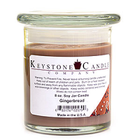 Gingerbread Soy Jar Candles 8 oz Madison