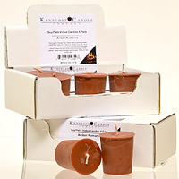 6pk Amber Romance Soy Votive Candles