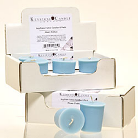 6pk Clean Cotton Soy Votive Candles