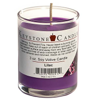 Lilac Soy Votive Candle in Glass