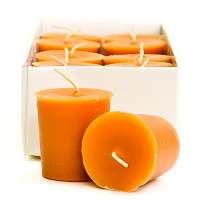 Homemade Pumpkin Roll Scented Votive Candles