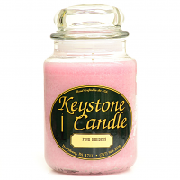 Pink Hibiscus Jar Candles 26 oz