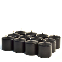 Unscented Black Votive Candles 15 Hour