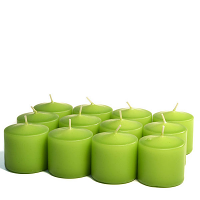 Unscented Lime green Votive Candles 15 Hour