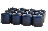 Unscented Navy Votive Candles 15 Hour