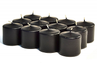 Unscented Black Votive Candles 10 Hour