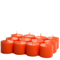 Unscented Burnt orange Votive Candles 10 Hour