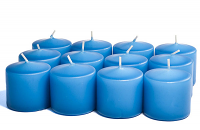 Unscented Colonial blue Votive Candles 10 Hour