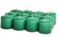Unscented Forest green Votive Candles 10 Hour