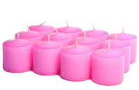 Unscented Hot pink Votive Candles 10 Hour