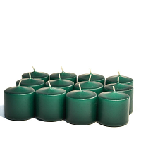 Unscented Hunter green Votive Candles 10 Hour