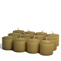 Unscented Parchment Votive Candles 10 Hour