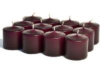 Unscented Plum Votive Candles 10 Hour