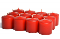 Unscented Red Votive Candles 10 Hour