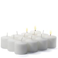 72 Pack White Unscented Votive Candles Bulk 10hr