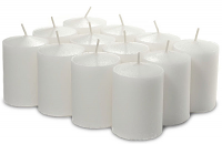 36 Pack White Unscented Votive Candles Bulk 15hr