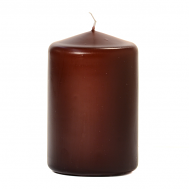Brown 3 X 4 Unscented Pillar Candles