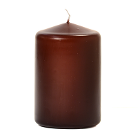 Brown 3 X 4 Unscented Pillar Candles