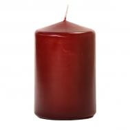 Burgundy 3 X 4 Unscented Pillar Candles