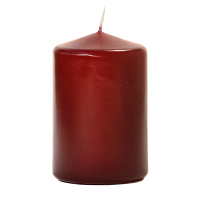 Burgundy 3 X 4 Unscented Pillar Candles
