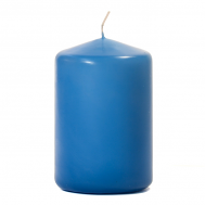 Colonial Blue 3 X 4 Unscented Pillar Candles