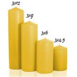 Harvest 3 x 4 Unscented Pillar Candles