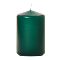 Hunter Green 3 X 4 Unscented Pillar Candles